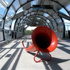 megaphones at footscray station credit Dean Petersen